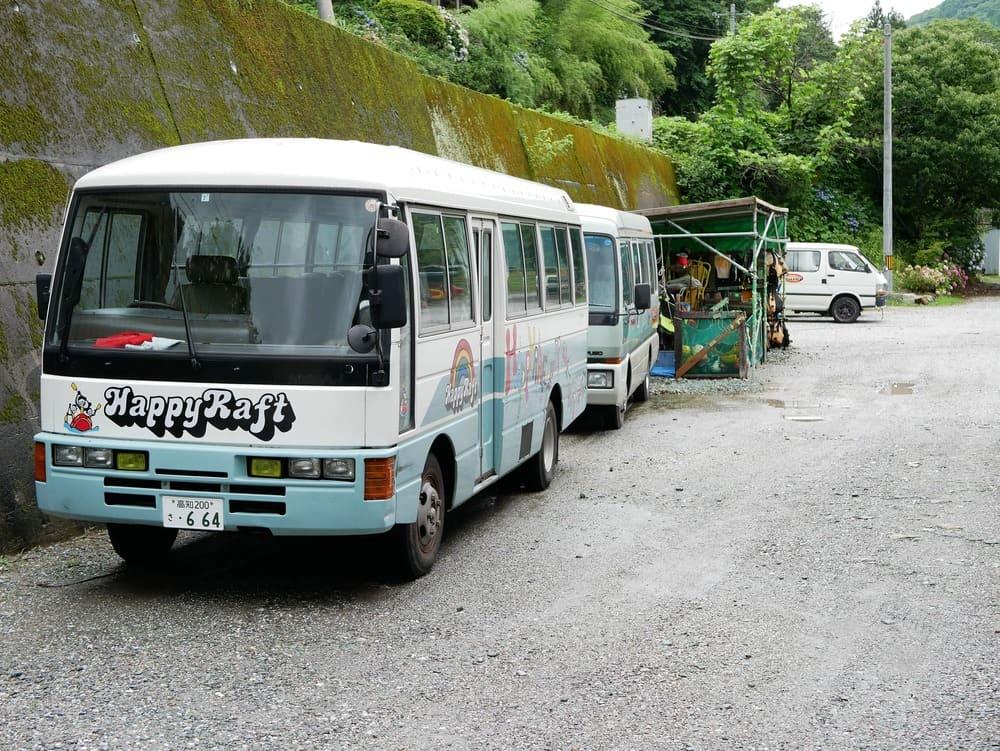 ハッピーラフトのバス