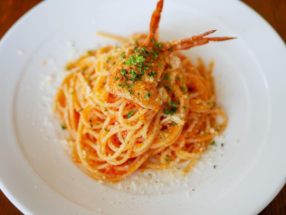 ANGIの渡り蟹のトマトソースパスタ
